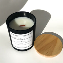 Load image into Gallery viewer, black currant saffron highly scented sexy warm fruity wood wick crackle candle luxury fragrance home decor coconut wax phthalate free