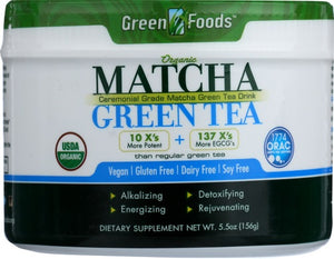 GREEN FOODS MATCHA GREEN TEA 5.5OZ