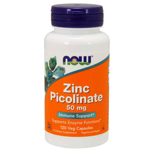 NOW ZINC PICOLINATE 50mg 120 CAPSULES