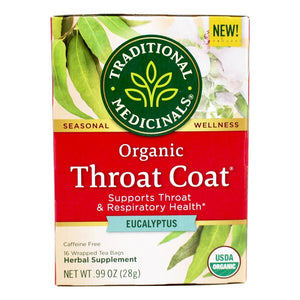 TRADITIONAL HERB TEA, ORGANIC THROAT COAT EUCALYPTUS