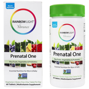 RAINBOW LIGHT PRENATAL ONE, VIBRANCE 60 TABLETS