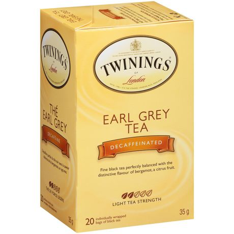 TWININGS DECAF EARL GREY TEA 20 BAG