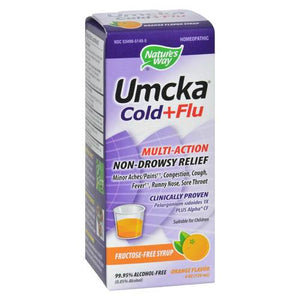 NATURE'S WAY UMCKA COLD & FLU SYRUP, ORANGE 4 OZ
