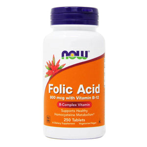 NOW FOLIC ACID 800mcg  250 TABLETS
