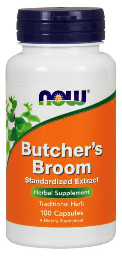 NOW BUTCHERS BROOM 500mg, 100 CAPSULES