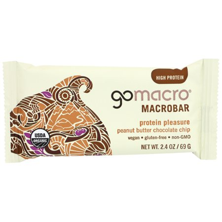 GOMACRO BAR, ORGANIC,PEANUT BUTTER CHOCOLATE CHIPS 2.5 OZ