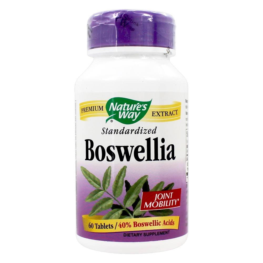 NATURE'S WAY BOSWELLIA STANDARDIZED EXTRACT 60 TABLETS