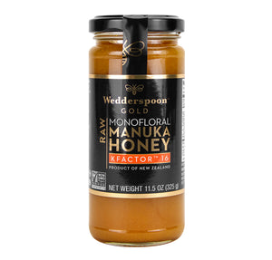 WEDDERSPOON, MANUKA RAW HONEY K FACTOR 16, 11.5 OZ