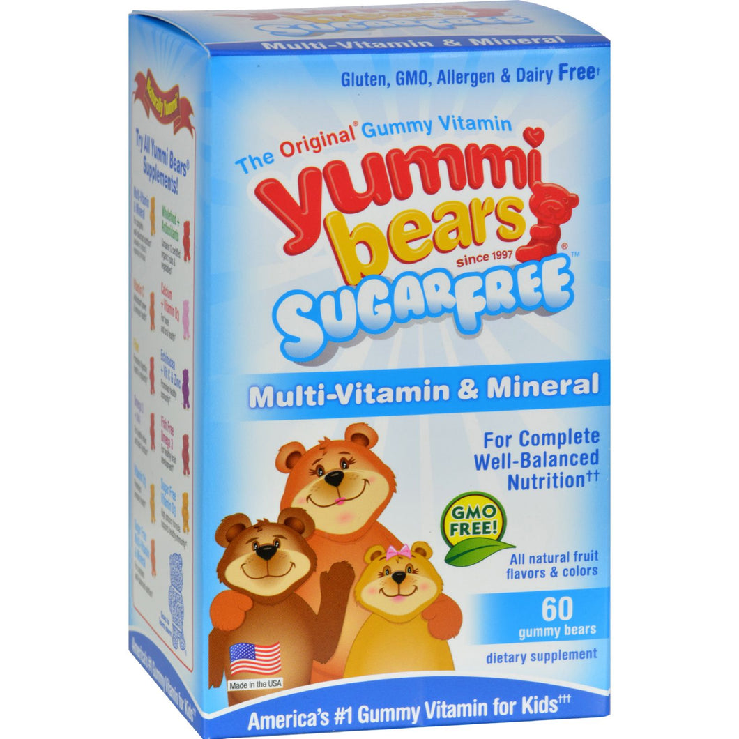 HERO NUTRITIONAL, YUMMI BEARS SUGAR FREE MULTI VITAMIN, 60 GUMMY BEARS