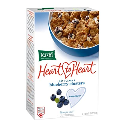 KASHI, HEART TO HEART, BLUEBERRY CLUSTERS 13.4 oz