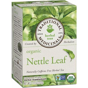 TRADITIONAL MEDICINALS ORGANIC NETTLE LEAF 16 bags