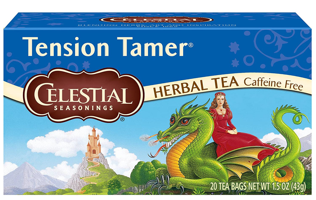 CELESTIAL SEASONING TENSION TAMER HERBAL TEA  20 BAGS