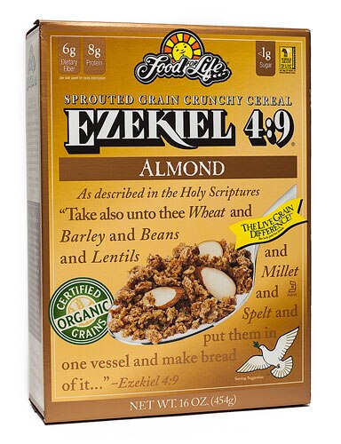 Food For Life, Ezekiel 4:9, Almond Sprouted Whole Grain Cereal