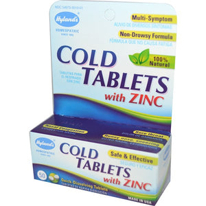 HYLAND COLD TABLETS WITH ZINC 50 TAB