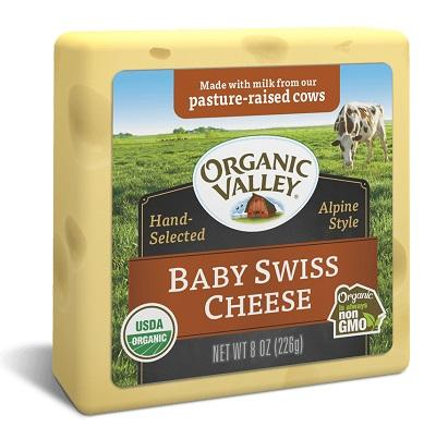 ORGANIC VALLEY BABY SWISS 8OZ