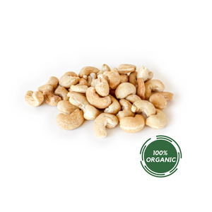 ORGANIC RAW WHOLE CASHEWS IN 8oz