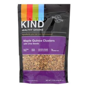 KIND HEALTHY GRAINS MAPLE QUINOA CLUSTERS WITH CHIA SEEDS 11oz