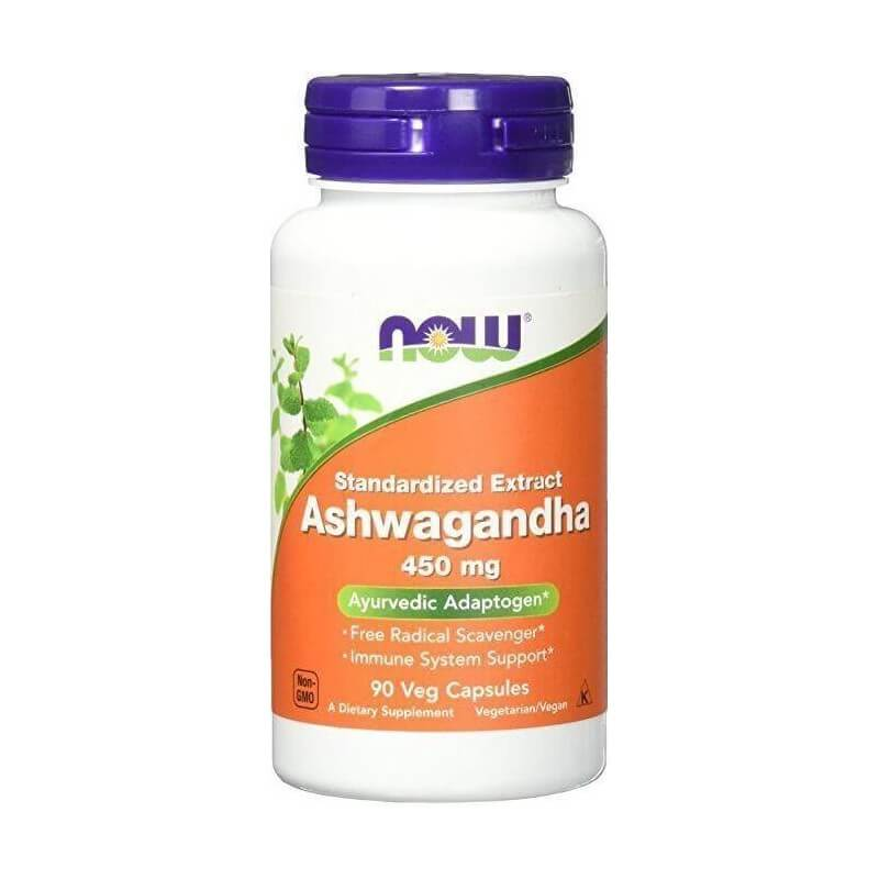 NOW ASHWAGANDHA 450mg, 90 VEG CAPSULES