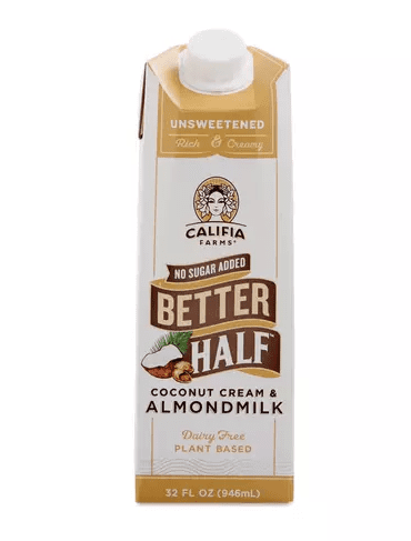 CALIFIA BETTER HALF , COCONUT & ALMOND MILK, UNSWEETENED 32OZ