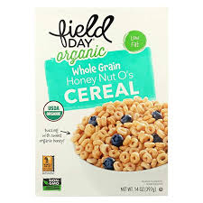 Field Day Cereal Organic Whole Grain Honey Nut 14oz