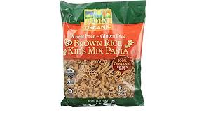 FIELDY PASTA ORGANIC KIDS MIX BROWN RICE PASTA 12 OZ