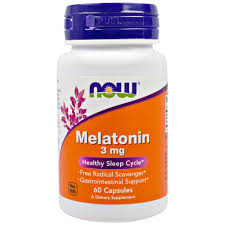 NOW MELATONIN 3 mg, 60 CAPSULES