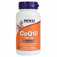NOW CoQ10 WITH HAWTHORN BERRY, 90 100 mg VEG CAPSULES
