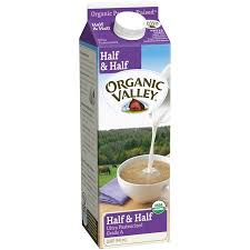 ORGANIC VALLEY HALF & HALF, UHT AT LEAST 95% ORGANIC 32 OZ