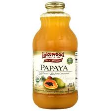 LAKEWOOD ORGANIC PAPAYA JUICE 32 OZ