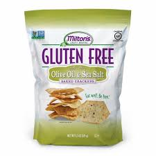 MILTON'S OLIVE OIL & SEA SALT GLUTEN FREE BAKED CRACKERS 4.5 OZ