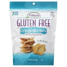 MILTON'S GLUTEN FREE CRISPY SEA SALT BAKED CRACKERS 4.5OZ
