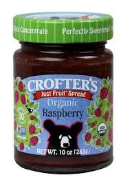 CROFTER'S JUST FRUIT SPREAD, ORGANIC RASPBERRY 10 oz