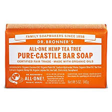 DR. BRONNER'S PURE CASTILE BAR SOAP WITH ORGANIC OIL TEA TREE 140G