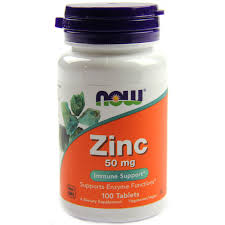 NOW ZINC GLUCONATE 50mg 100 TABLETS