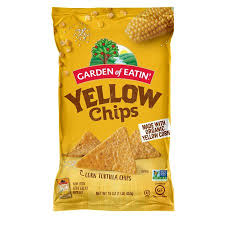 GARDEN OF EATIN, ORGANIC YELLOW CHIPS 16 OZ