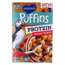 BARBARAS BAKERY, CEREAL PROTEIN PUFFINS BERRY, 10 OZ