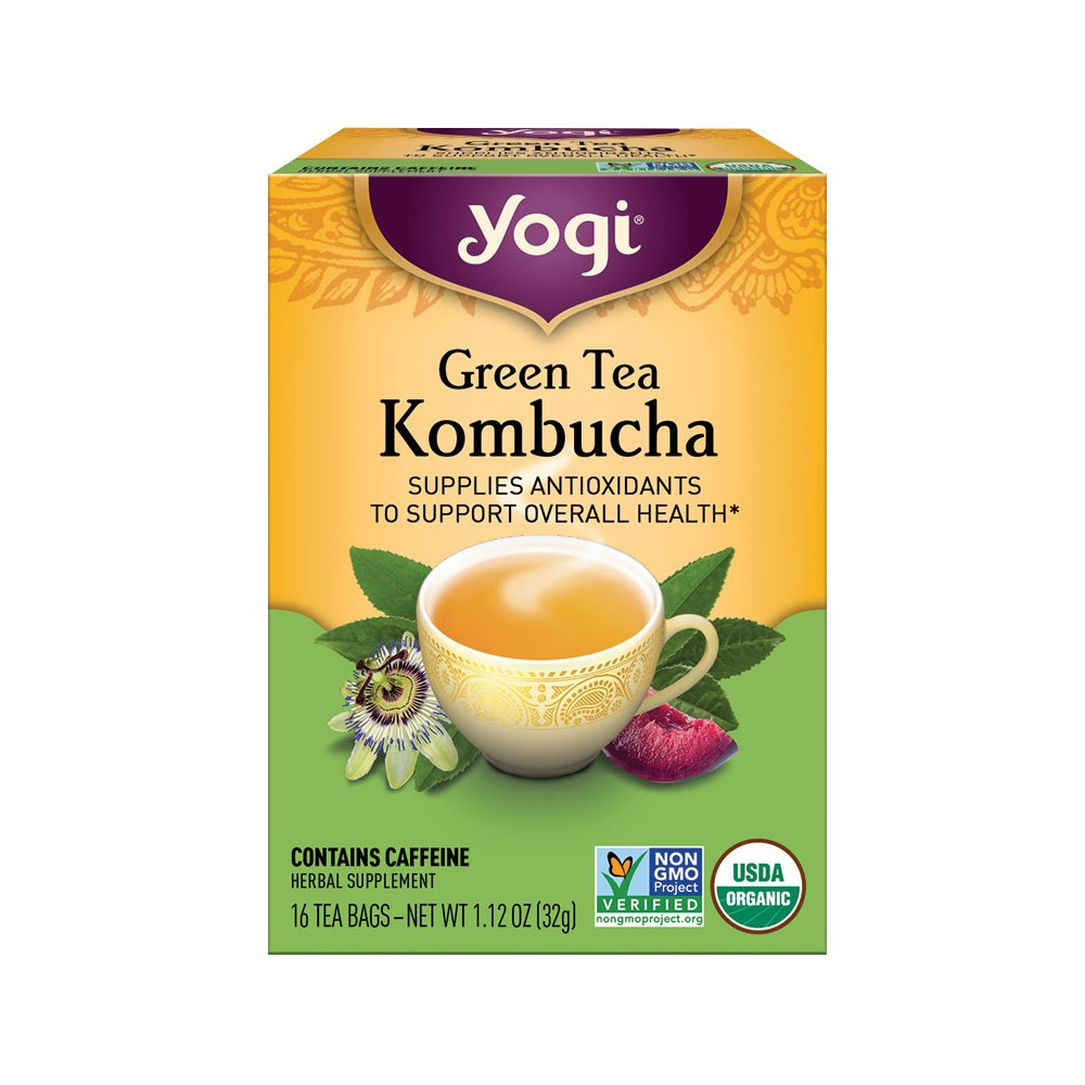 YOGI ORGANIC GREEN TEA KOMBUCHA 16 BAG