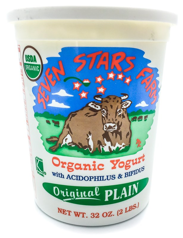 SEVEN STARS FARM ORGANIC PLAIN YOGURT 32 OZ.