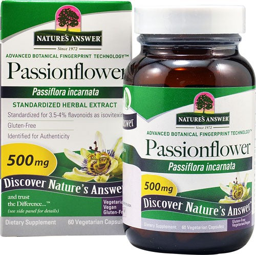 NATURE'S ANSWER PASSIONFLOWER STANDARDIZED 60 VCAP