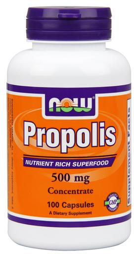 NOW PROPOLIS 500mg, 100 CAPSULES