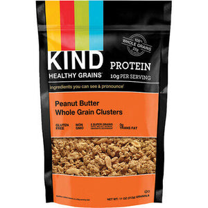 KIND HEALTHY GRAINS, PEANUT BUTTER CLUSTER 11 OZ
