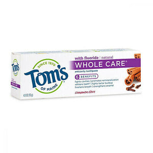 Tom's Of Maine, Cinnamon Clove Whole Care Toothpaste, 4 Ounce. 4 OZ