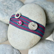 Armband Elefant mit Rhodolit in Bordo Anthrazit aus 925er Silber - Nuggets of Love