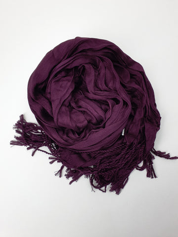 Dark Plum Cotton shawl