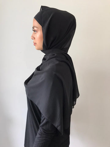 Black Chiffon Shawl - Phyre Wear Clothing Fashion Modest Sydney Australia Hijab