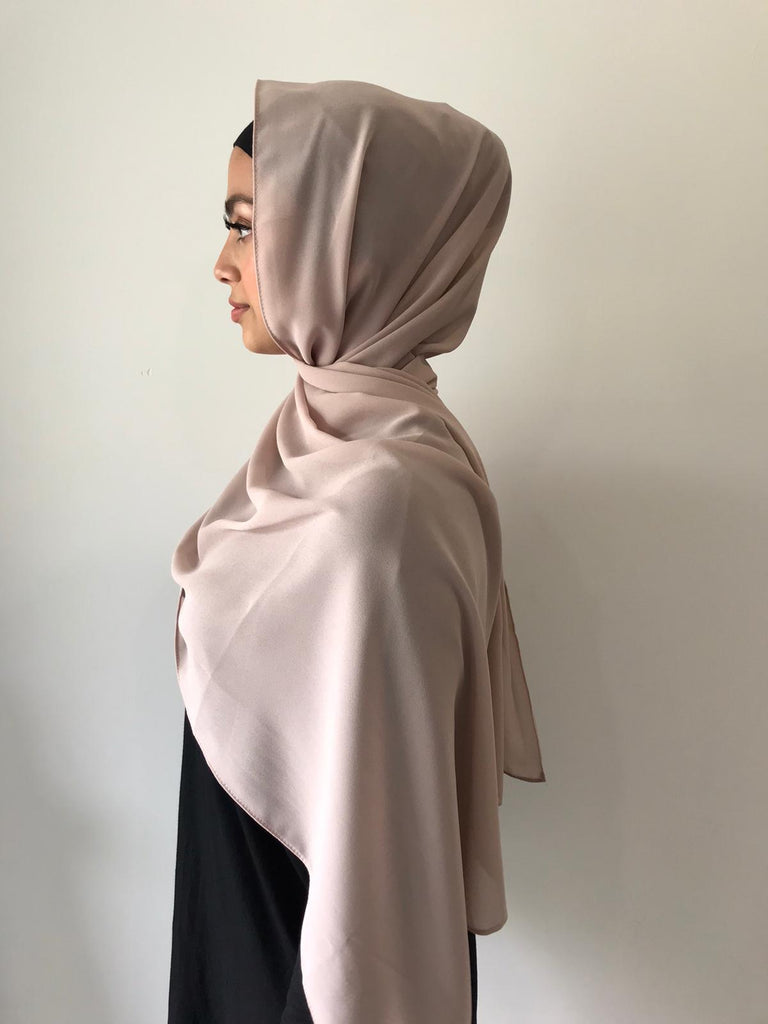 The Perfect Nude Chiffon Shawl - Phyre Wear Clothing Fashion Modest Sydney Australia Hijab