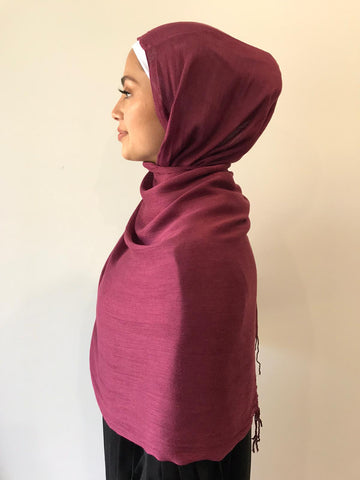 Maroon Cotton Shawl - Phyre Wear Clothing Fashion Modest Sydney Australia Hijab