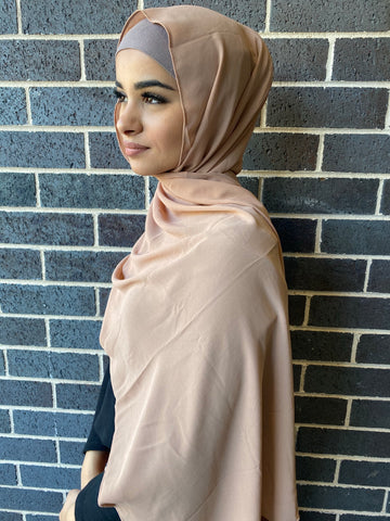 Sandy beige chiffon shawl - Phyre Wear Clothing Fashion Modest Sydney Australia Hijab