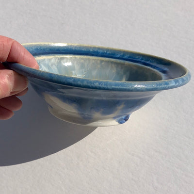 Small Blue Rimmed Bowl #i041