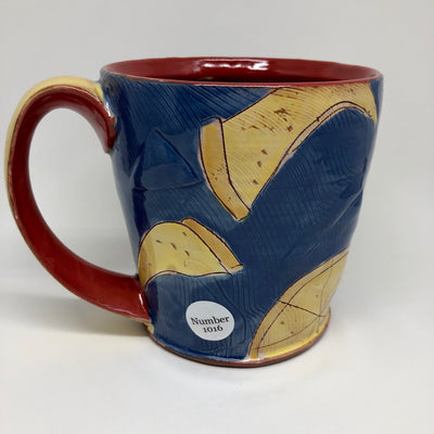 Dark Blue Pizza Mug #1016